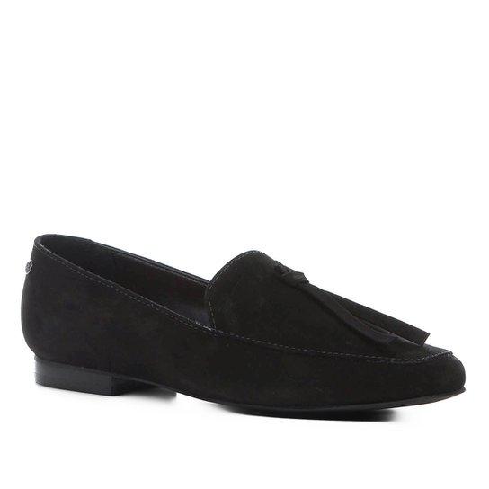 811db7677c Mocassim Couro Shoestock Loafer Nobuck Feminino - Preto - Compre ...