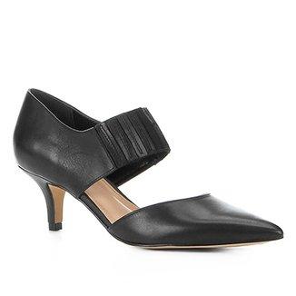 51abebab49 Scarpin Couro Shoestock Salto Médio Elástico