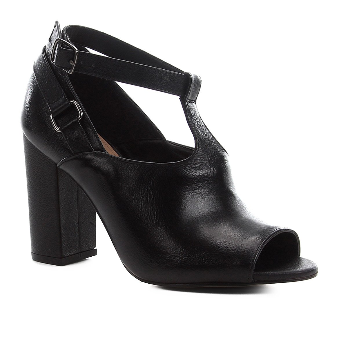 Sandália Couro Shoestock Sandal Boot Feminina
