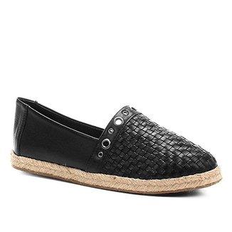 7f9ab58516 Sapatilha Couro Shoestock Trama Corda Feminina