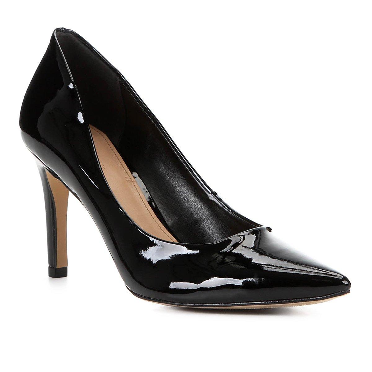 Scarpin Shoestock Classic Salto Alto Verniz
