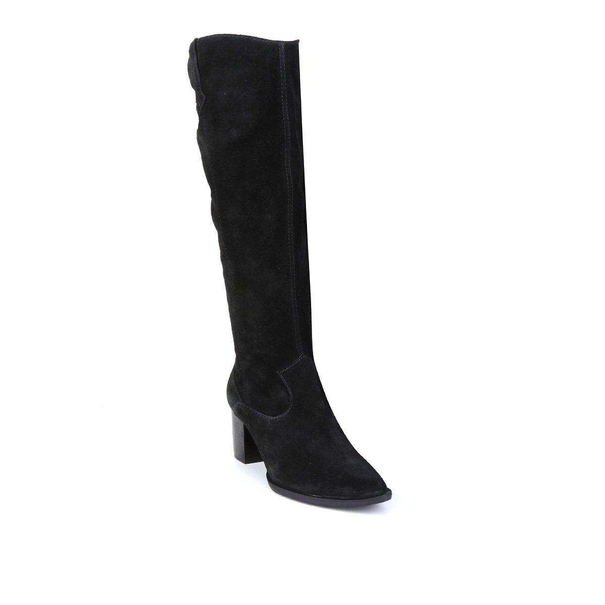 Bota Cano Longo Shoestock Camurção Western Feminina