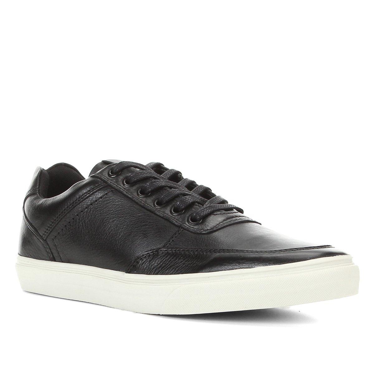 Sapatênis Couro Shoestock Napa Liso Masculino