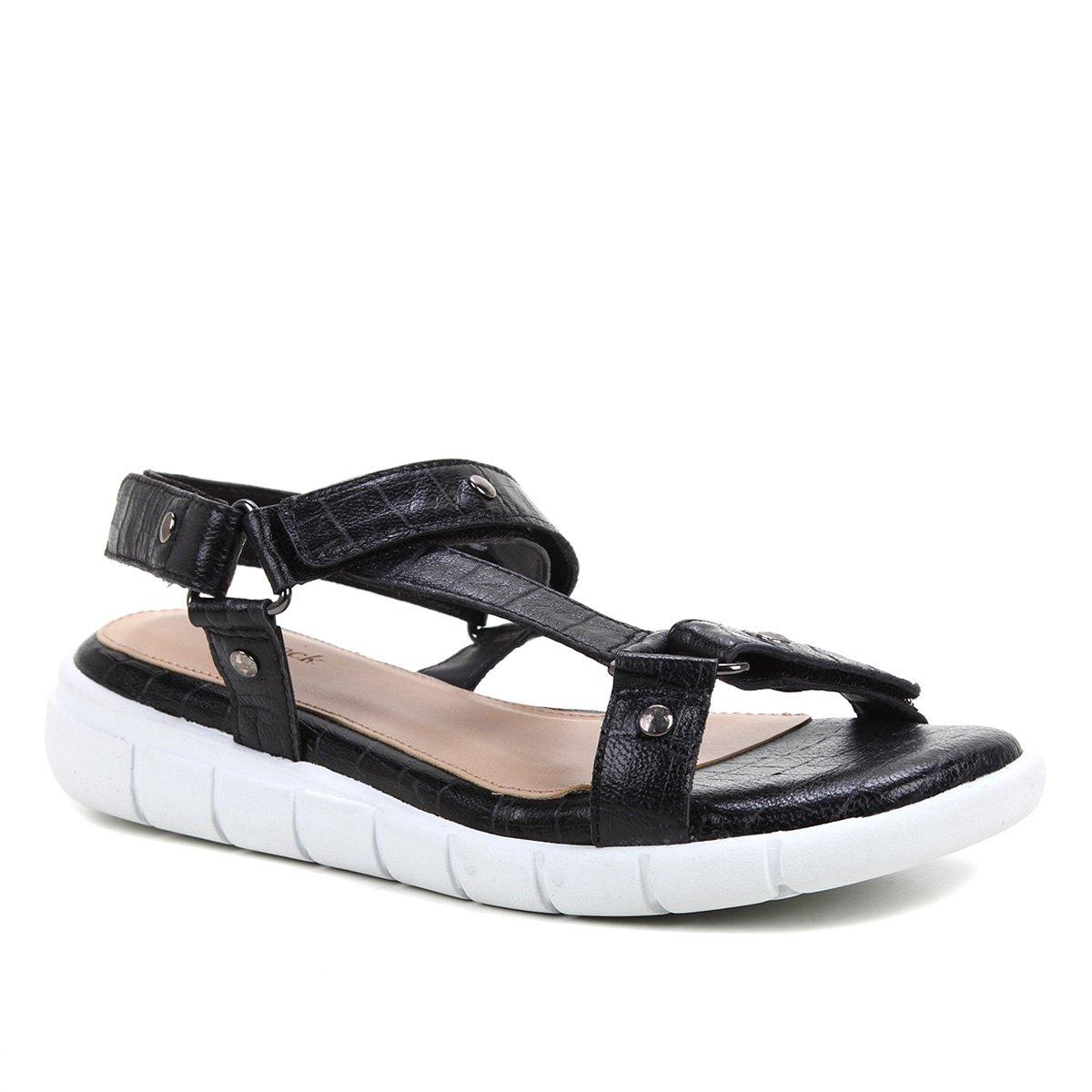 Rasteira Couro Shoestock Papete Croco