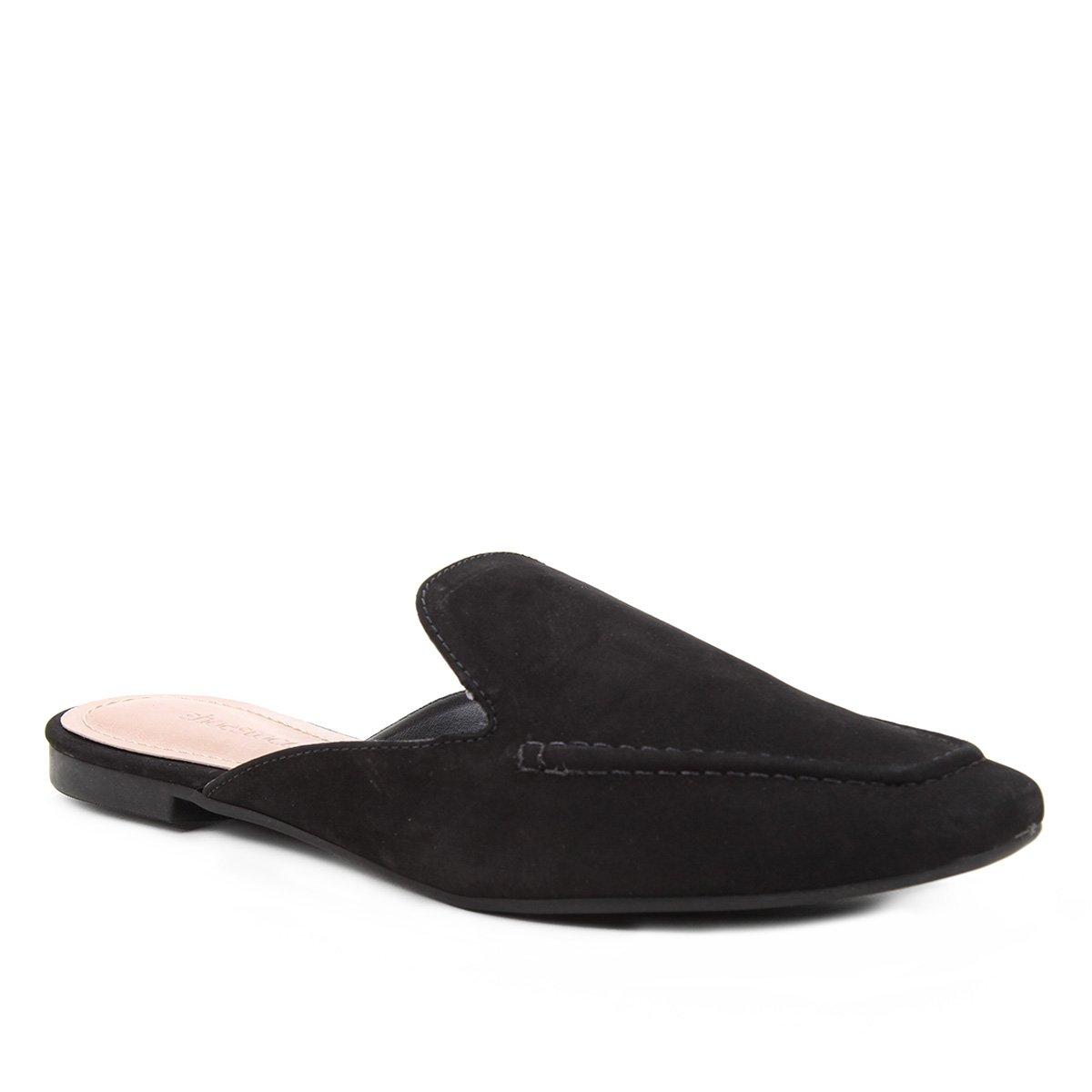 Mule Couro Shoestock Flat Minimal Loafer