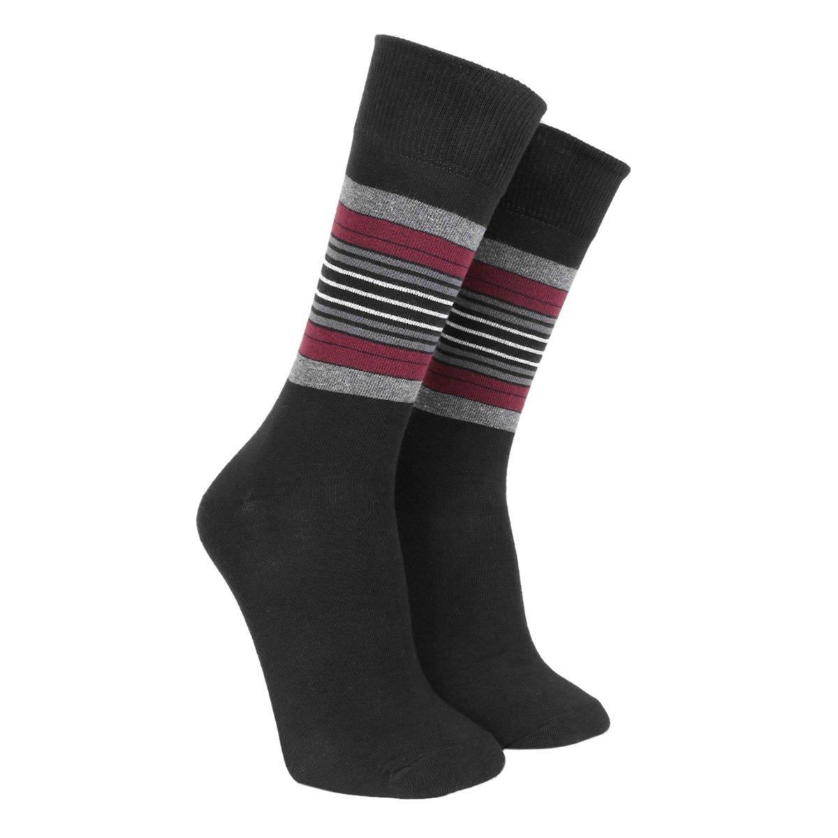 Meia Social Shoestock Sportwear Listras Masculina