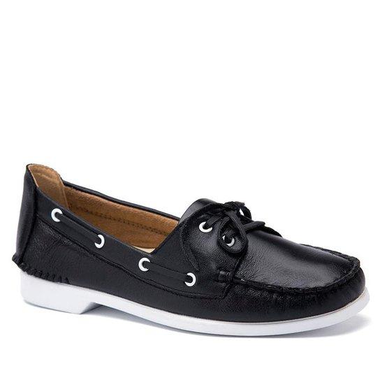 ea65917ba3 Dockside Feminino 50701 em Couro Doctor Shoes - Preto