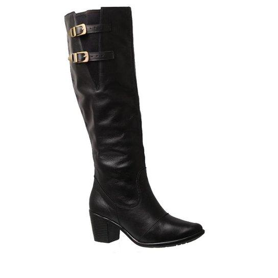 f362decec Bota Couro Cano Alto Doctor Shoes 7713 Jade Feminina - Compre Agora ...