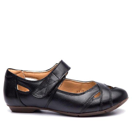 8a5f9c2a46 Sapatilha Couro Doctor Shoes 1298 Feminina - Preto. Loading.