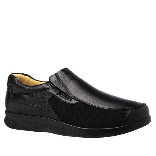 6c84cba7b Sapato Casual Conforto Doctor Shoes Couro Masculino - Preto   Zattini