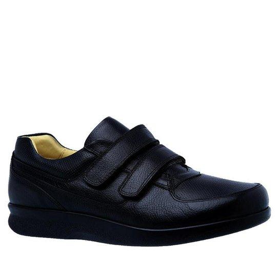 d1b3a37c9 Sapato Conforto Couro Doctor Shoes Masculino - Preto   Zattini