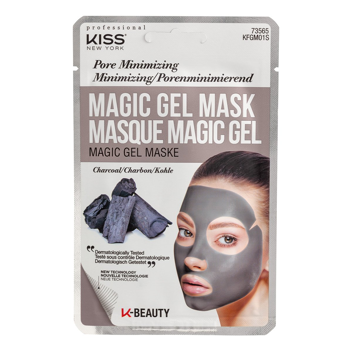 Máscara Facial Kiss New York - Magic Gel Mask Carvão - 1 Unid.