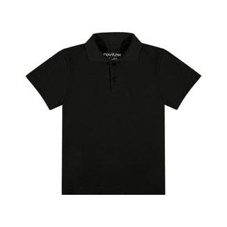 Camisa Polo Infantil Rovitex Kids Masculina 1ca7807360e6d