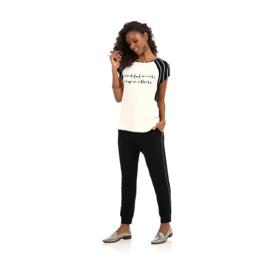 Blusa Viscotorcion Rovitex Feminina - Preto - Compre Agora  7f84a5aa2ff
