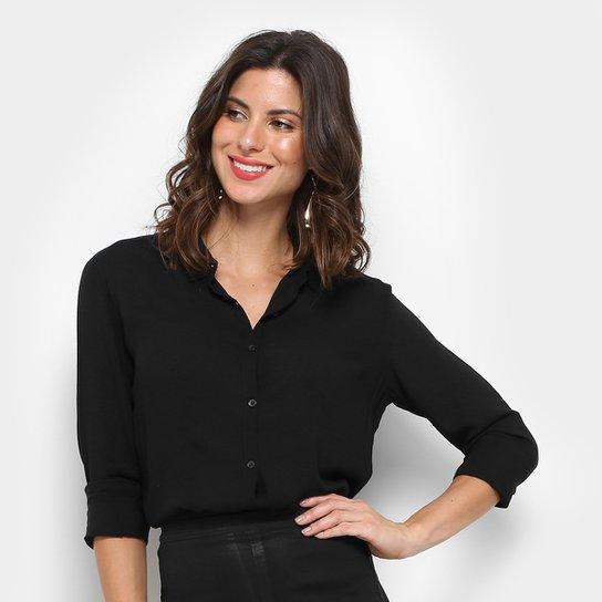face0e721878a Camisa Social Aishty Manga Longa Feminina - Compre Agora