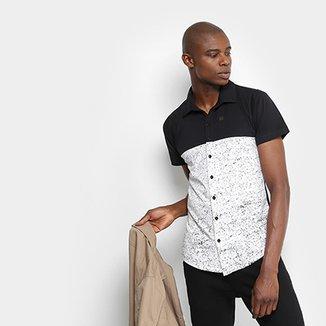 Camisa Overcore Manga Curta Estampada Masculina 348568ffcc3e8