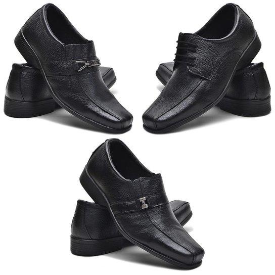 65b5cfa216 Kit 3 Pares De Sapato Social Fox Shoes Couro Masculino - Compre ...