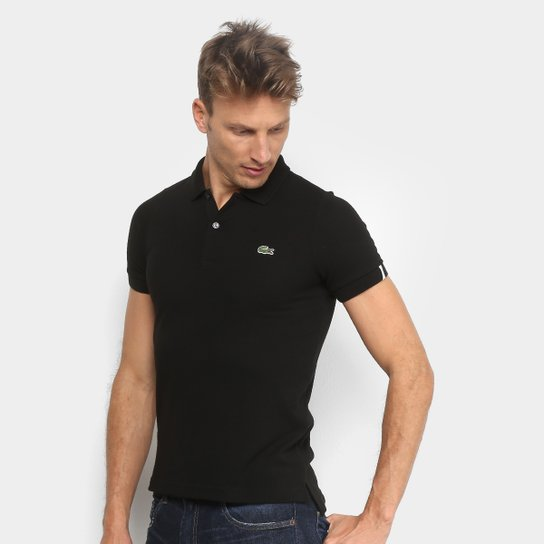 11725a9b2f Camisa Polo Lacoste Básica Live Masculina - Preto