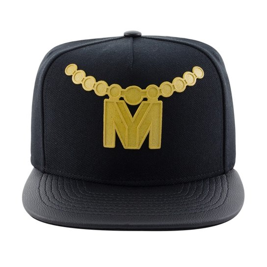 Boné Aba Reta Young Money Snapback Rubber Gold 3D - Preto - Compre ... a7717cd7793