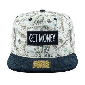 Boné Aba Reta Young Money Snapback Get Money a219075dc82