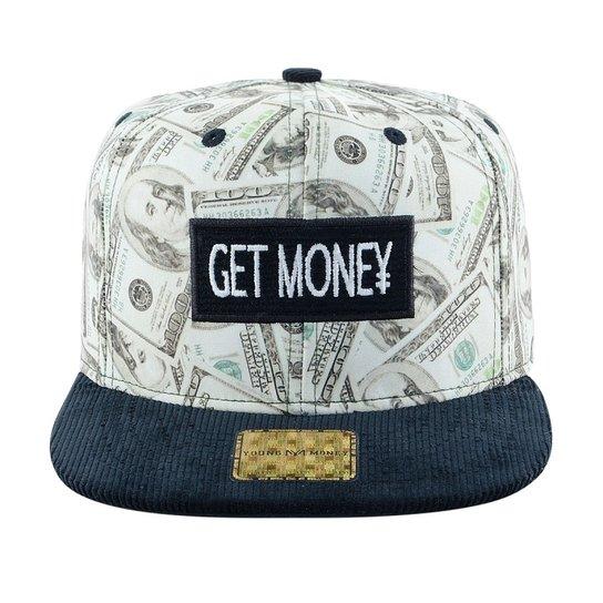 Boné Aba Reta Young Money Snapback Get Money - Preto - Compre Agora ... 1da0c76bd94