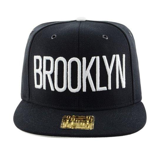 Boné Aba Reta Young Money Snapback Brooklyn 3D - Preto - Compre ... f421dc3eede
