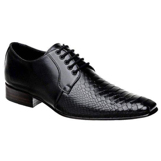 b476196b8 Sapato Social Masculino em Couro Croco Bigioni - Preto | Zattini