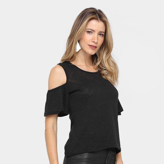 Blusa Drezzup Recorte Ombro Babados Feminina - Compre Agora   Zattini feaa4155d4