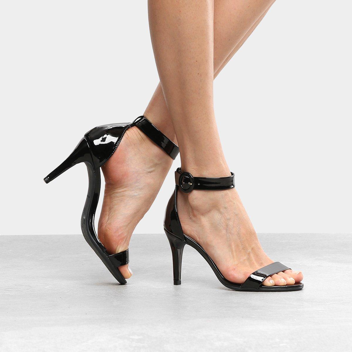 db3789aeee Sandália Drezzup Salto Fino Ankle Strap Feminina