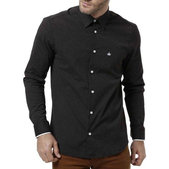 Camisa Manga Longa Masculina Preto - Compre Agora  cacfaf180513f