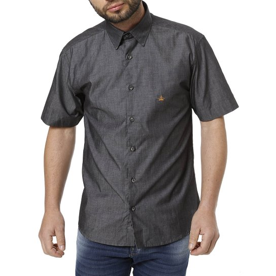178b706c6a Camisa Urban City Manga Curta Masculina - Preto - Compre Agora