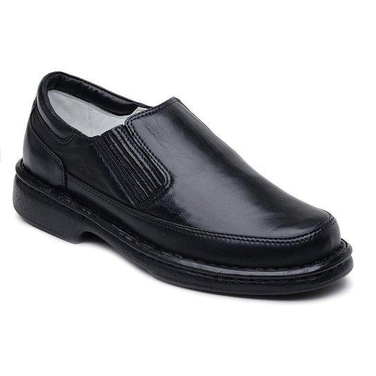 6b89170d13 Sapato Casual Confortável Couro de Carneiro Ranster - Preto - Compre ...