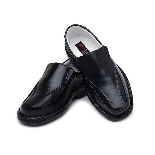 b0f0595fd Sapato Masculino Confort Pele Carneiro Palmilha Massageadora Ranster - Preto