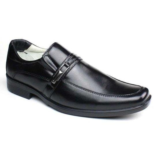 dea8d6d86 Sapato Social Masculino Confortável Pele de Carneiro Ranster - Preto ...