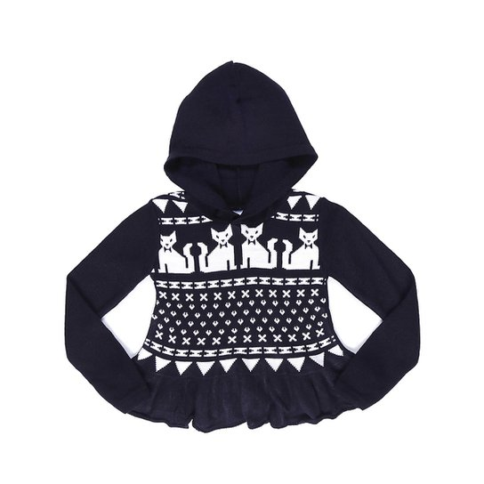 Blusa Tricot Capuz Infantil Cris Van Kids - Compre Agora   Zattini fd0e14362f