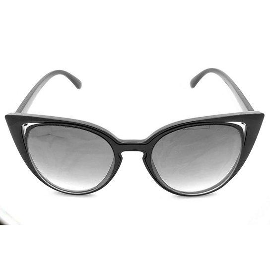 Óculos de Sol Gio Antonelli Lente Cinza Degradê Feminino - Preto ... 65ed769401