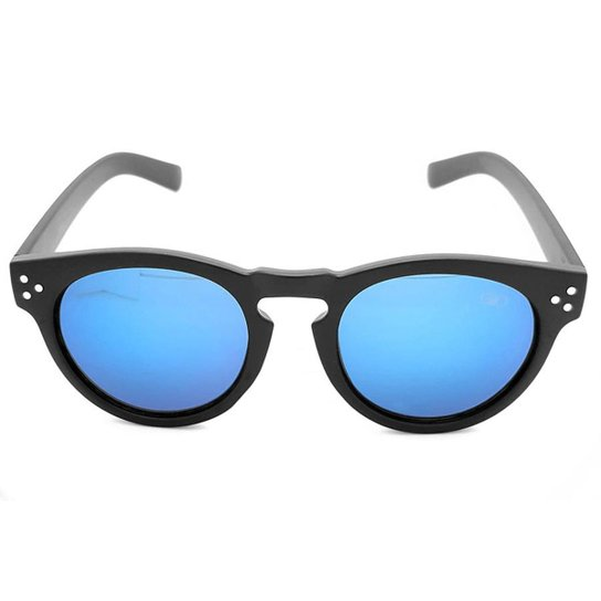 e92de560d048b Óculos de Sol Gio Antonelli Fosco Lente Azul Espelhada Feminino - Preto