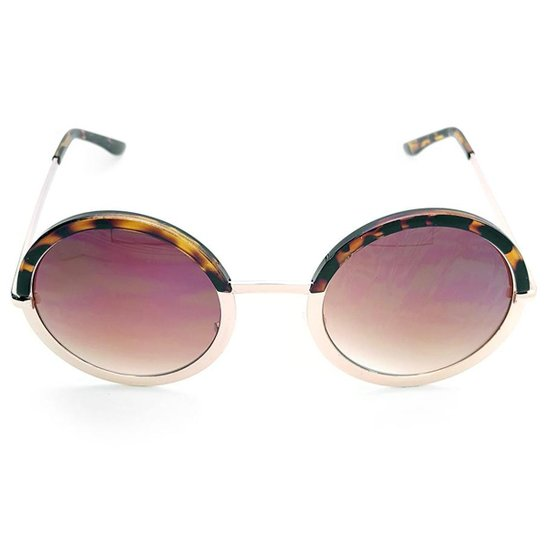 ba3cf9ecbff0e Óculos de Sol Gio Antonelli Tartaruga e Dourado Lente Marrom Degradê  Feminino - Preto