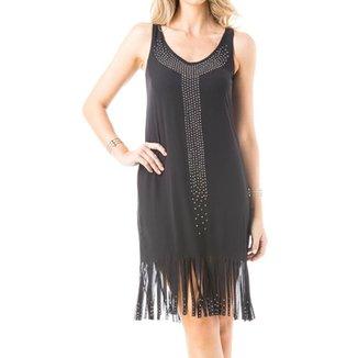 003f5f27f4be6 Vestido Osmoze Franjas Com Aplicação Em Termocolante Feminino