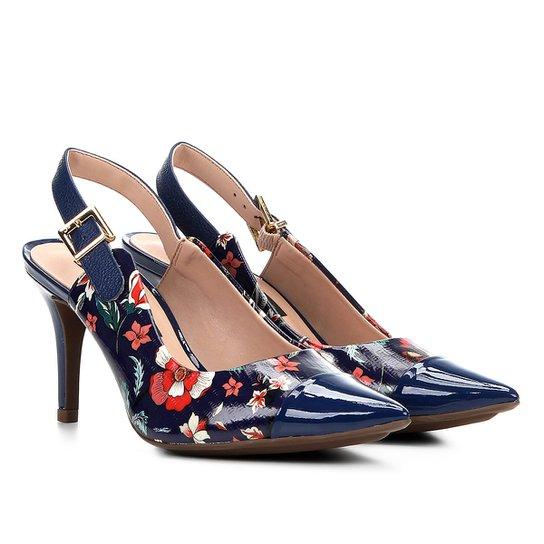 a32c1f132a Scarpin Chanel Couro Estampado Floral Jorge Bischoff Feminino - Floral