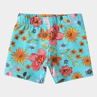 b7239716c Short Infantil Fakini Estampa Floral Feminino