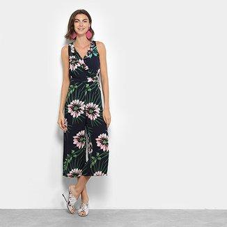 23b6ceafa Macacão Longo Lily Fashion Regata Floral