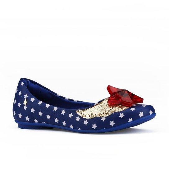 35f846a01e Sapatilha Infantil Bibi Melody Anil Glitter - Azul - Compre Agora ...