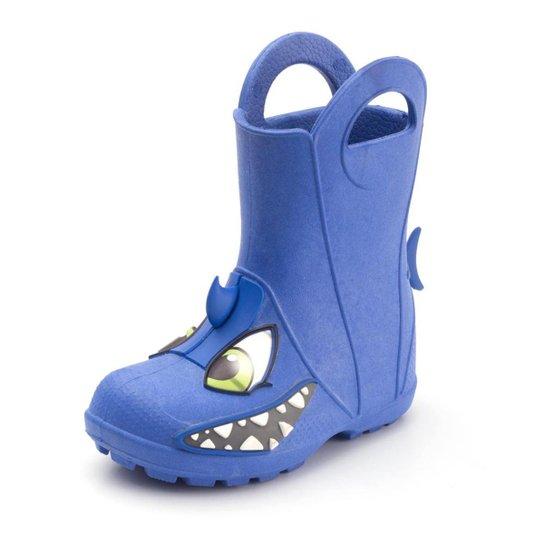 2ef187c15f9 Galocha Plugt Tubarão Infantil Masculina - Azul - Compre Agora