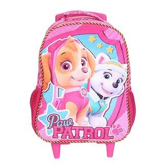 c779f47c267676 Mochila Escolar Infantil Paw Patrol Girl Team Rodinhas