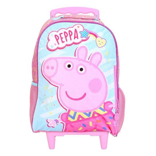 a6d4dcaea Mochila Escolar Infantil Xeryus Rodinhas Peppa Pig - Rosa+Pink
