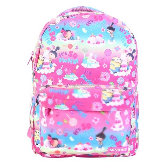 954bf31b4 Mochila Escolar Infantil Xeryus Estampa Meu Malvado Favorito Feminina - Rosa +Pink