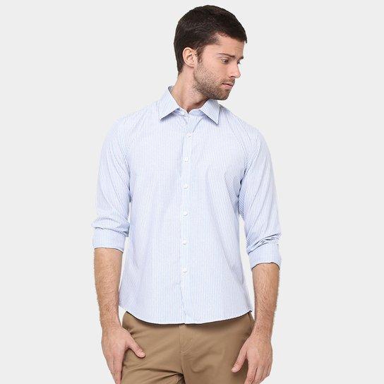 Camisa BlueBay Listras Fio Tinto - Compre Agora  89c0e7ff95d51