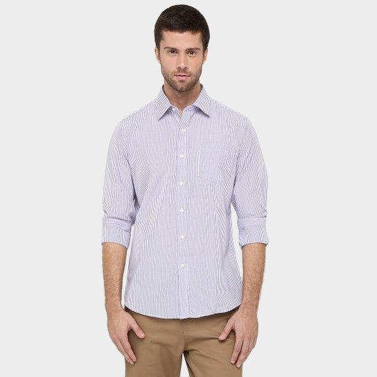 Camisa Blue Bay Listras Fio Tinto Masculina - Compre Agora  394a1b07bfb11