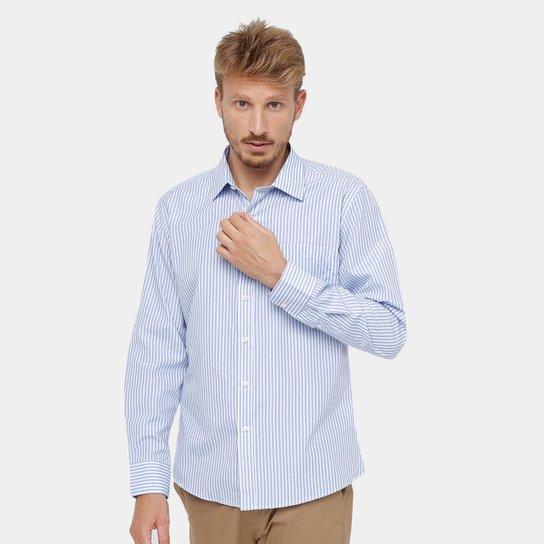 119aa7306 Camisa Blue Bay Listrada Bolso Manga Longa Masculina | Zattini